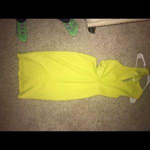 Neon yellow sexy dress